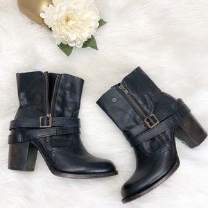 Freebird Bama Black Leather Moto Boots Sz 10